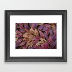 Coloured Leaves Framed Art Print