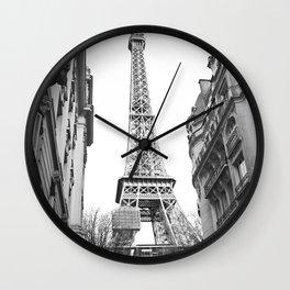 The Eifel tower in Paris Wall Clock