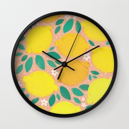Meyer Lemons Wall Clock