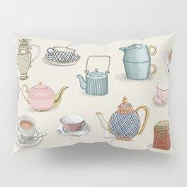 Vintage Teacups and Teapots Pillow Sham
