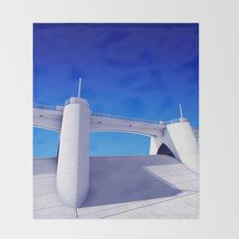 Sepulveda Dam on blue Throw Blanket