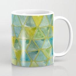Pepperstem Green Colorway - Tesselate Eco Green Triangle Pattern Coffee Mug