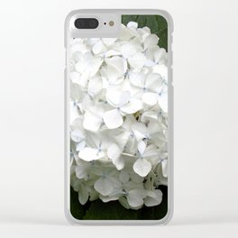 Hydrangea Bloom Clear iPhone Case