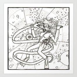 Diver Danger Art Print