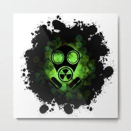 Gaz Mask Metal Print