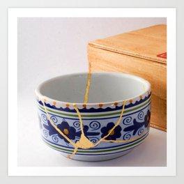 Kintsugi Bowl Art Print