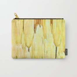 Pale Yellow Tulips Abstract Floral Pattern Carry-All Pouch