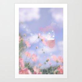 Cloud Balloon in Wild Bloom Art Print