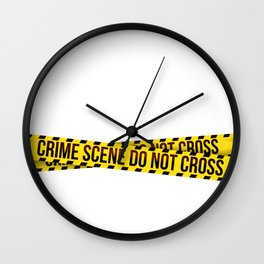 crime scene Wall Clock