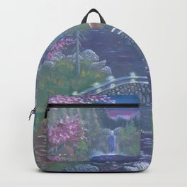 Early morning cabin Backpack