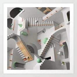 Escher Relativity Art Print