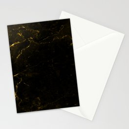 Black Gold Marble Stationery Cards