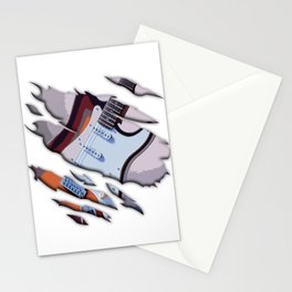 Claw Guitar Bands Guitarists Bassist Music Lovers Gift Stationery Cards
