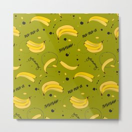Bananas pattern Metal Print