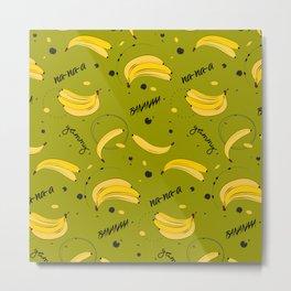 Bananas pattern Metal Print