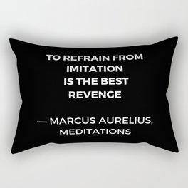 Stoic Wisdom Quotes - Marcus Aurelius Meditations - To refrain from imitation is the best revenge Rectangular Pillow
