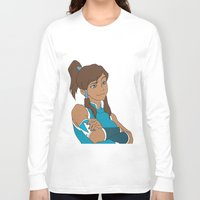 korra Long Sleeve T-shirts featuring Korra by Nicky Severein
