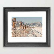 rocky mountain snow Framed Art Print