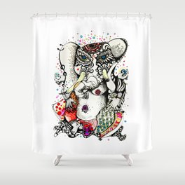 Ganash protector  Shower Curtain