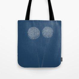 Onion Flower Blueprint Tote Bag