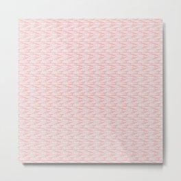Pastel Pink Pattern Metal Print