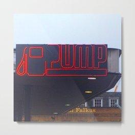 Pump - Retro Sign, London Metal Print