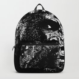 gorilla monkey face expression wsbw Backpack