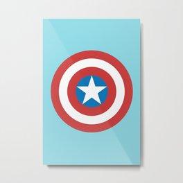 Captain of America Metal Print