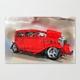 The Red Car Canvas Print