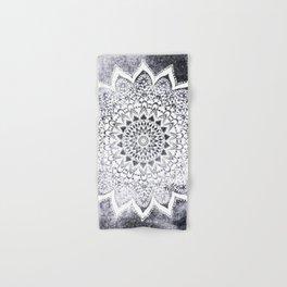 BOHO WHITE NIGHTS MANDALA Hand & Bath Towel