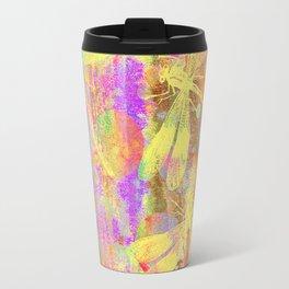 A Dragonflies and Dots Travel Mug