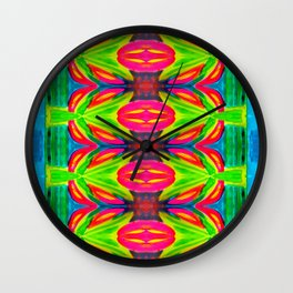 Tropical Abstract II - Painting Wall Clock