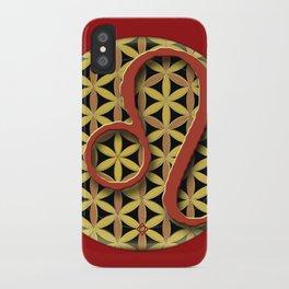 Flower of Life LEO Astrology Design iPhone Case