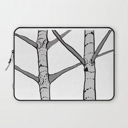 Poplar Tree Illustrated Print Laptop Sleeve