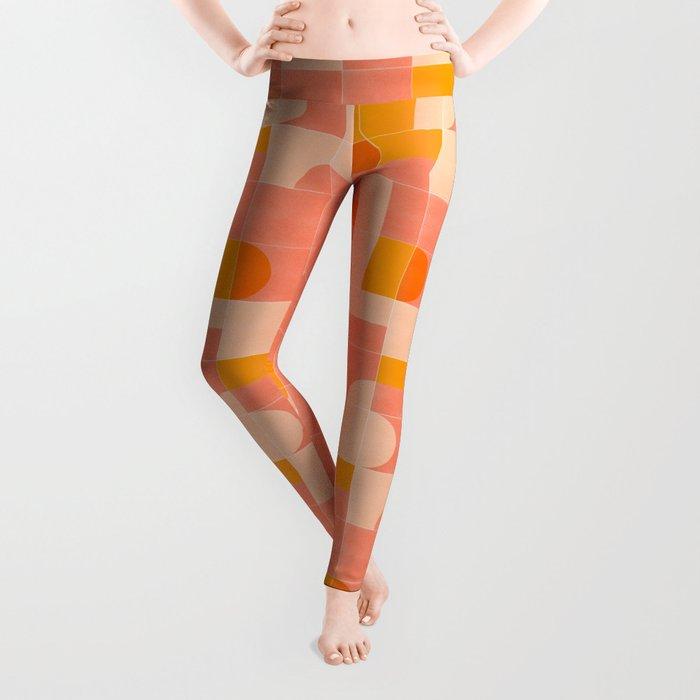 Retro Tiles 03 #society6 #pattern Leggings
