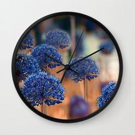 Blue ball flowers Wall Clock