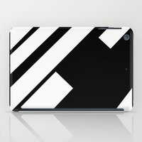 stripe iPad Cases featuring stripe by noirblanc777