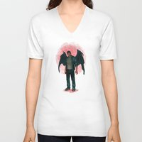 dean winchester V-neck T-shirts featuring Dean Winchester. Demon by Armellin