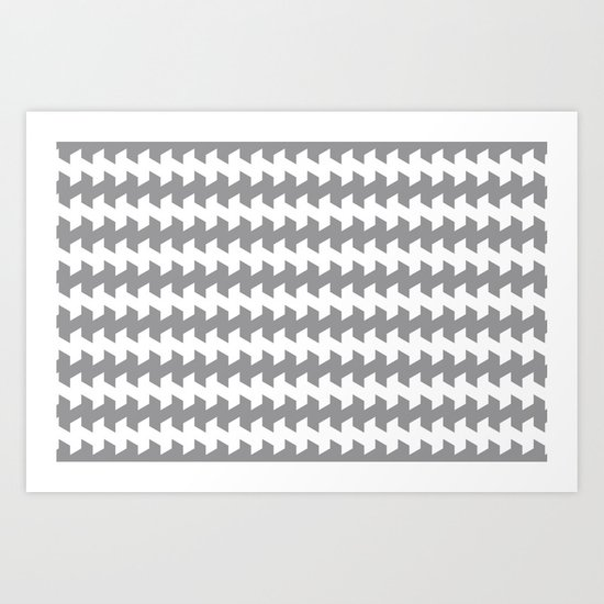 jaggered and staggered in alloy Art Print