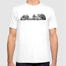 The Last Supper SMALL White Mens Fitted Tee