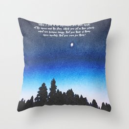 The work of His hands Throw Pillow