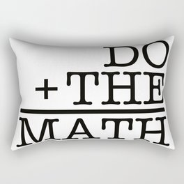 Do The Math Rectangular Pillow