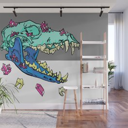 Candy Crystal Coyote Skull Wall Mural