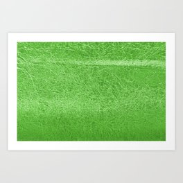 Crinkled Green Foil Texture Christmas/ Holiday Art Print