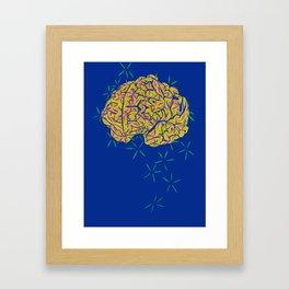 Floral Brain Framed Art Print