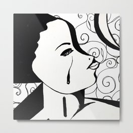 The Hurt In Black & White III Metal Print