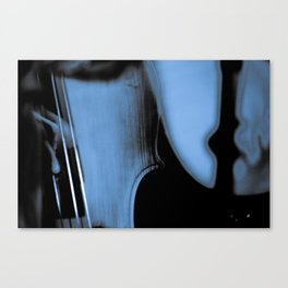 abstract upright bass Canvas Print
