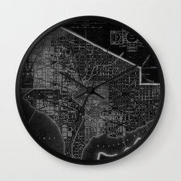 Washington DC Modernized Vintage Map  Wall Clock