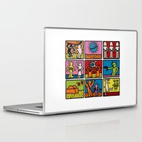 keith haring Laptop & iPad Skins featuring Haring - étoiles W. by Krikoui