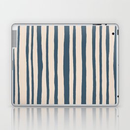 Into the Woods blue cream Stripes Laptop & iPad Skin